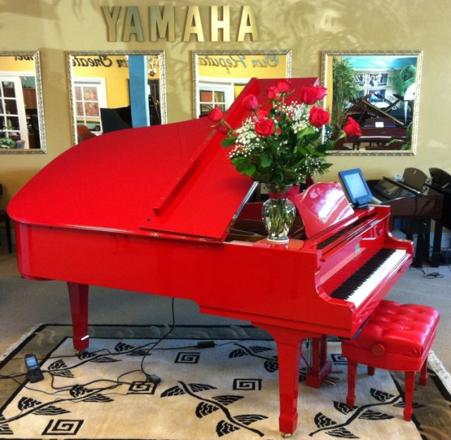 Elton John's red piano at Kretzer Piano!