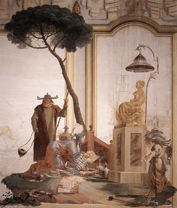 Жертва фрукты Богиня Луны, 1757 по Giovanni Domenico Tiepolo (1727-1804, Italy)