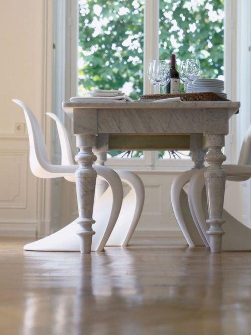 Come abbinare tavolo antico e sedie moderne nel 2020