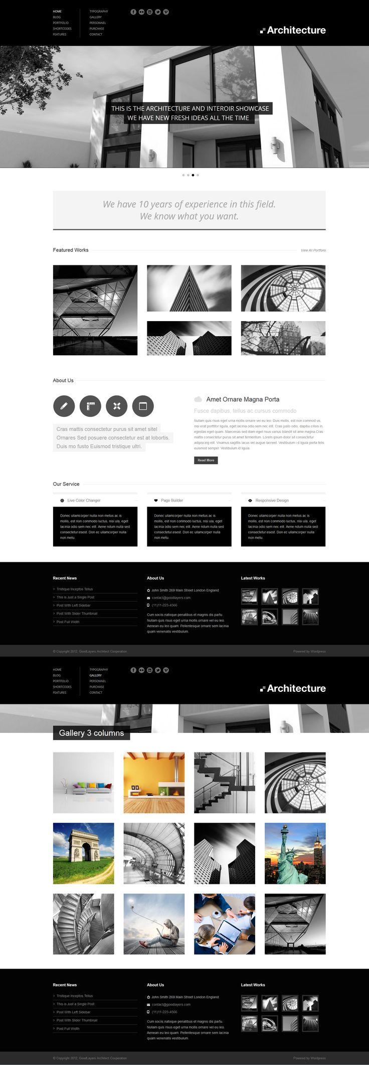 Architecture   Responsive, Full-photo, Fixed-Header, Wordpress Template   themeforest   http://themes.goodlayers2.com/architecture/ Get this template from: http://themeforest.net/?ref=Vision7Studio