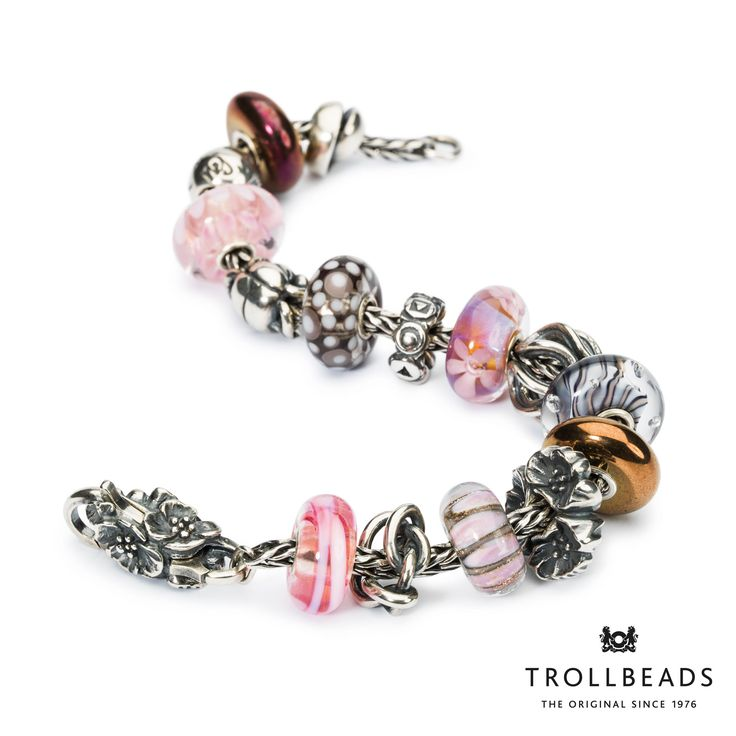 Bracelet by Trollbeads - 2015 Spring Collection. Shop: www.trollbeads.com. #newhorizons #trollbeads #trollbeadsstyle #jewelry
