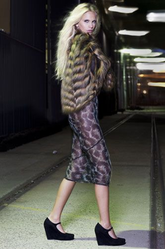 Diavolina shoes featuring Unreal Fur