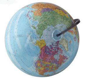 World Globe 12 inch Diameter Globemaster By Edu Science:  Locate Places - Countries, Cities, Nations, Oceans and More! Measure Distances Between Any 2 Points Tell the Time of Any Place on Earth Using the Time Dial Learn Why We have Standard Time Zones Guide Book Included For Ages 6+ Free Shipping Estimated shipping time 5 to 7 business days