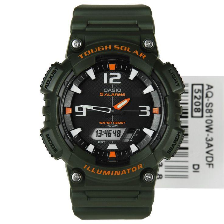 Casio Tough Solar Sports Watch AQ-S810W-3AV AQS810W