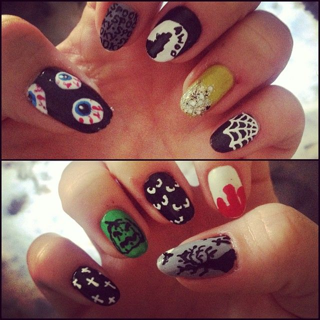 35 best catherines nail art images on pinterest nailart nail creepy claws halloween 2013 nails mix and match prinsesfo Choice Image