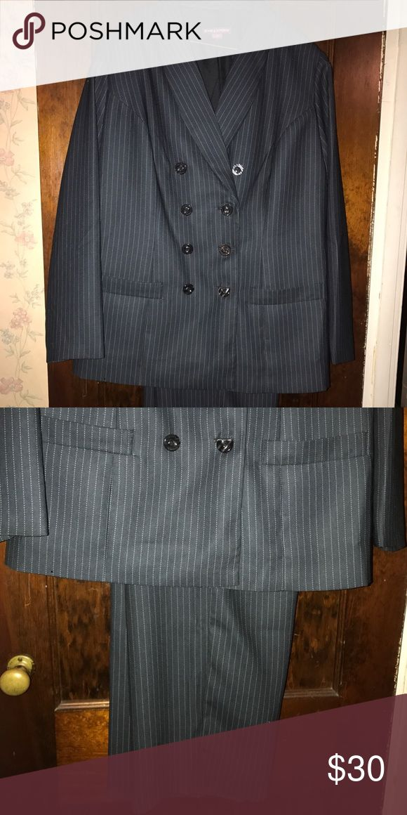 Jessica London size 16 navy blue suit Pin strip navy blue suit hardly worn size 16 Pants Trousers
