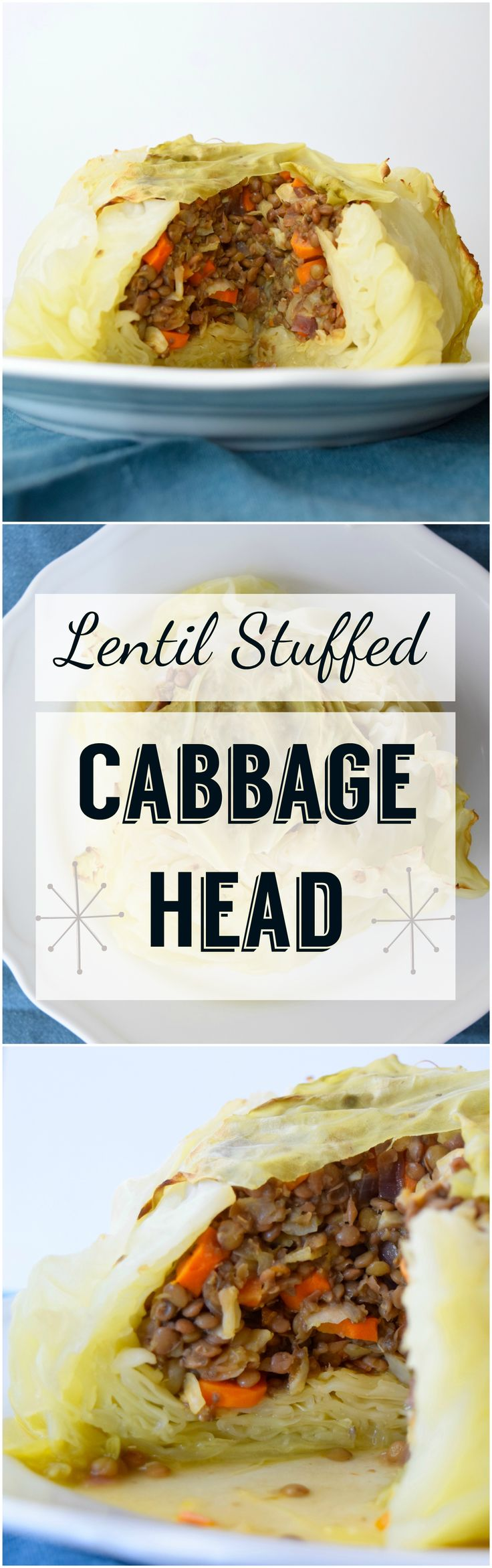 A vegan spin on an Eastern European recipe. Tender and delicious cabbage baked with a flavorful lentil stuffing.