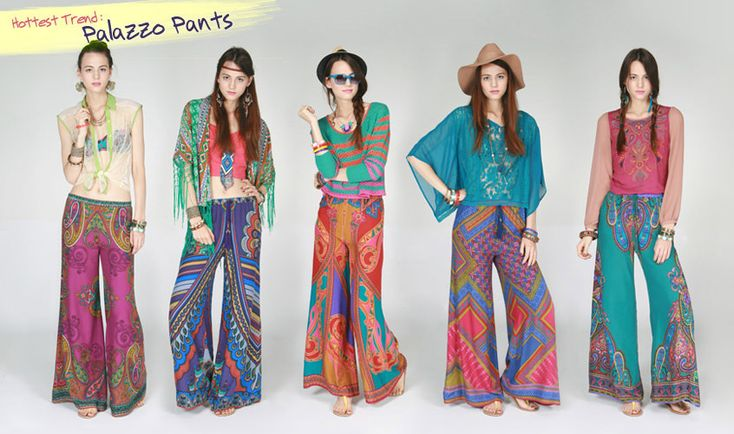 what shoes to wear with palazzo pants | How to wear palazzo pants - prints-Palazzo-Pants