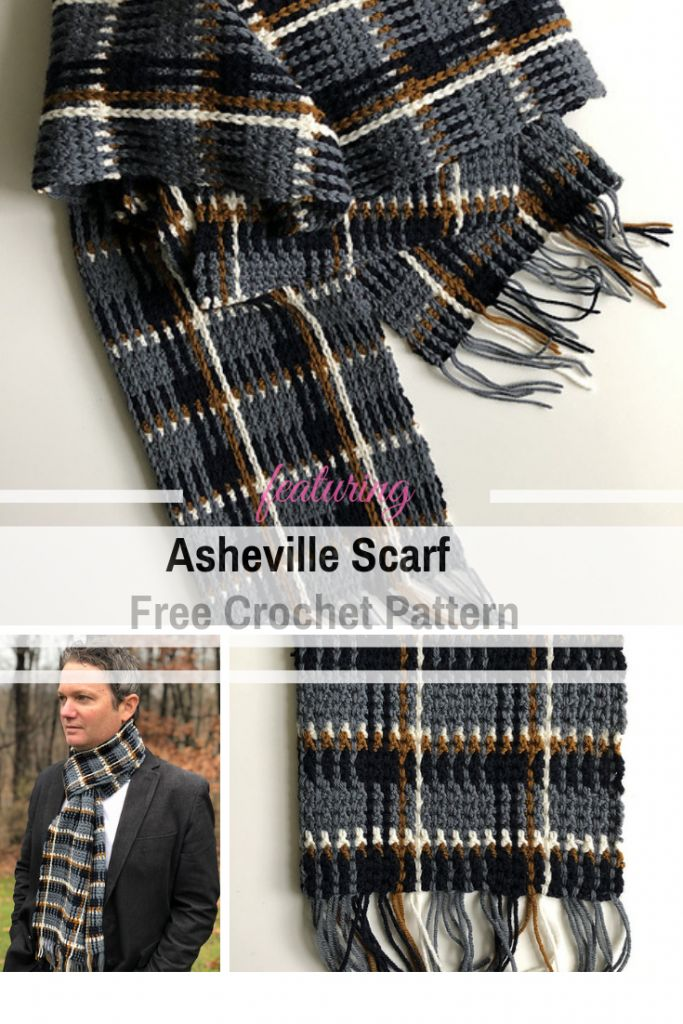 Simple And Beautiful Men S Plaid Scarf Crochet Pattern