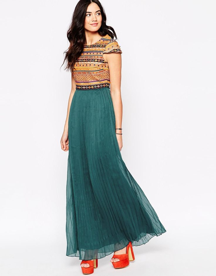 Candela Troy Embroidered Maxi Dress