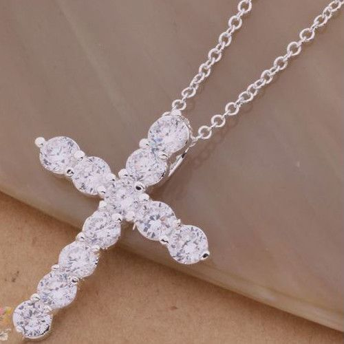 Beautiful Crystal Cross Pendant and Chain #UCHARMMEconz #Gift #shipping #free #plus