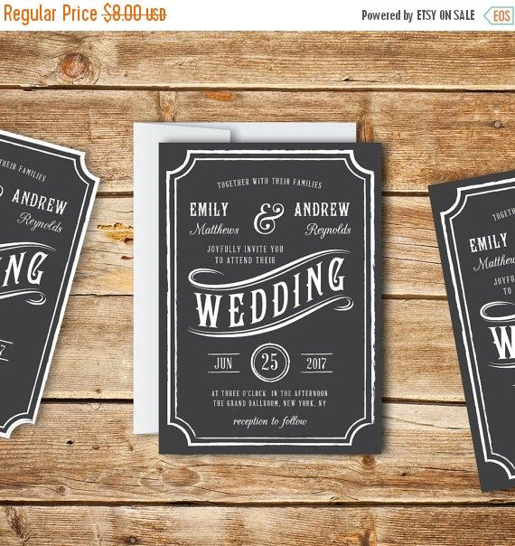 60 best Wedding Invitation Templates images on Pinterest Wedding - professional invitation template