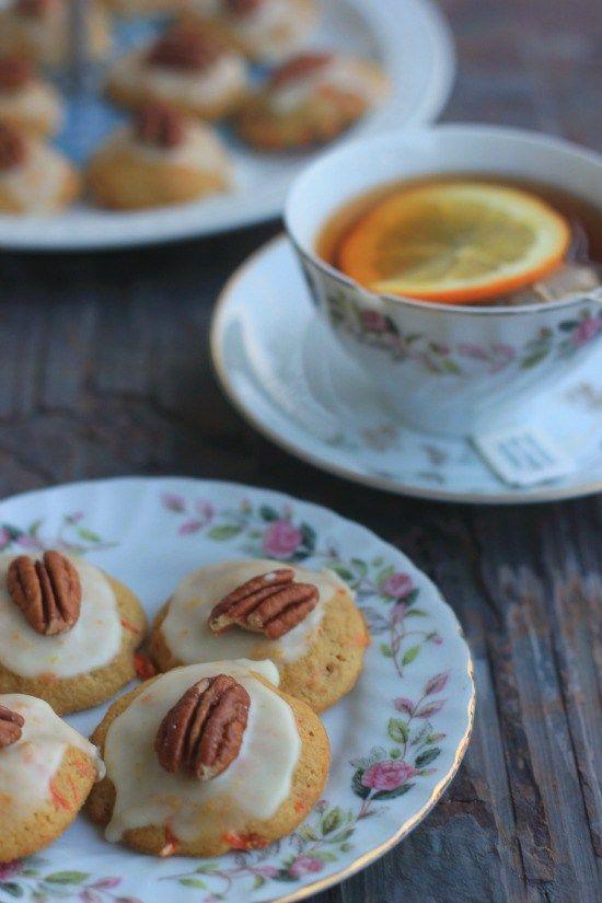 Carrot cookies with orange glaze recipe