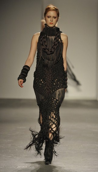 beatifully crafted macrame dress.