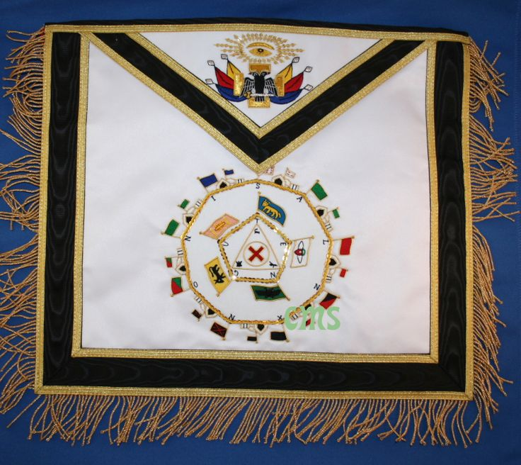 Masonic Supply Shop - Scottish Rite 32 nd Degree Apron, $174.99 (http://www.masonicsupplyshop.com/products/Scottish-Rite-32-nd-Degree-Apron.html/)
