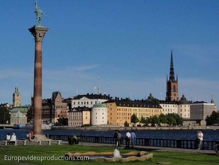 Vue depuis la Mairie de Stockholm: Gamla Stan en Suède
