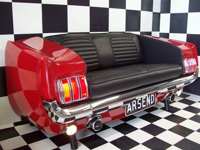 Muscle car couch~  LOVE IT!  I would put it in the garage where all the kids hang out.