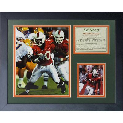 Legends Never Die Ed Reed - Miami Hurricanes Framed Memorabilia