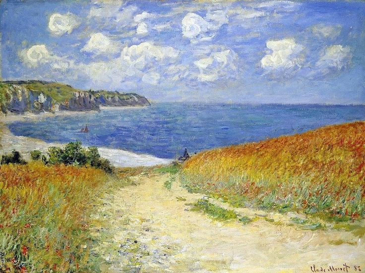 Claude Monet - Chemin Dans les Blés à Pourville