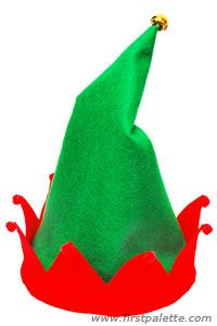 Craft your own Christmas elf hat out of felt or velvet fabric.