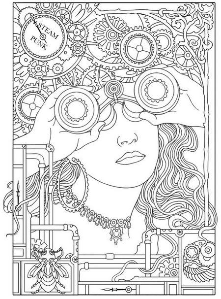 steampunk designs coloring book - Google Search