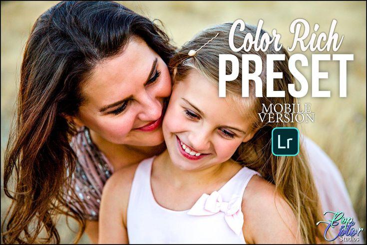 Lightroom Mobile Presets Color Rich, Warm Skin Tone Presets, Bright Presets, Portrait Presets, Instagram Presets, Lightroom Presets