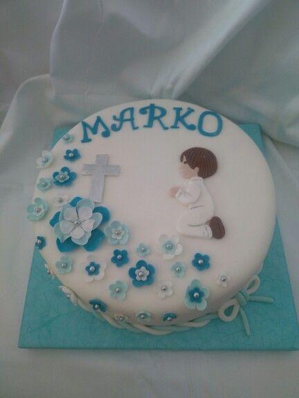 1st communion boy cake