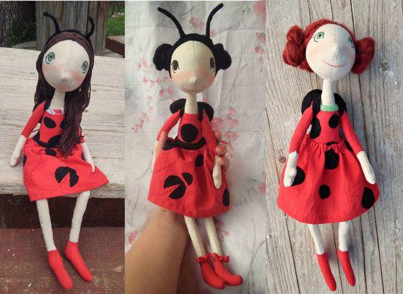 Unieke handgemaakte doek poppen van het weefsel pop door FelThink