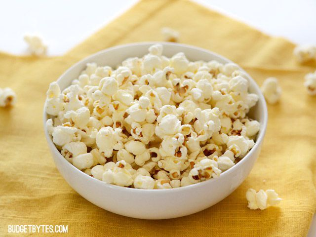 How to Make Stove Top Popcorn - Budget Bytes