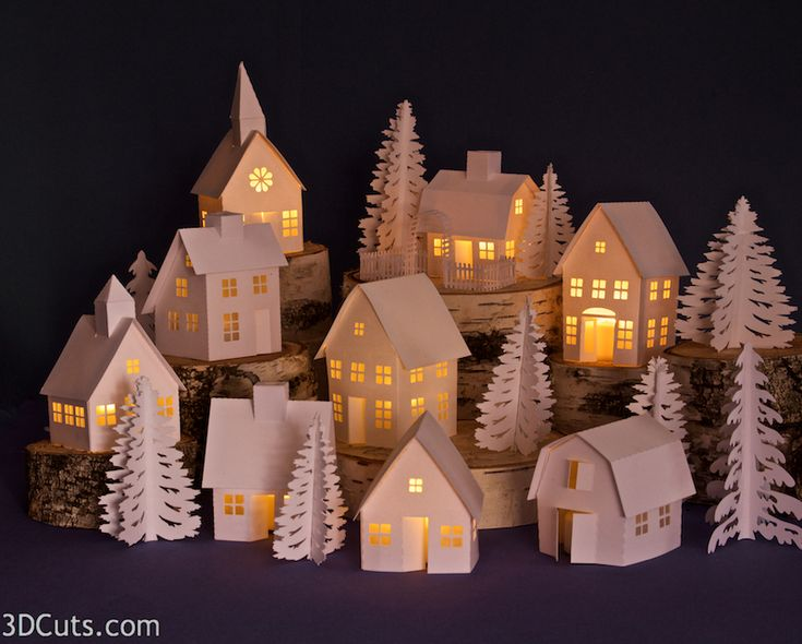 Tea Light Village by 3dcuts.jpg
