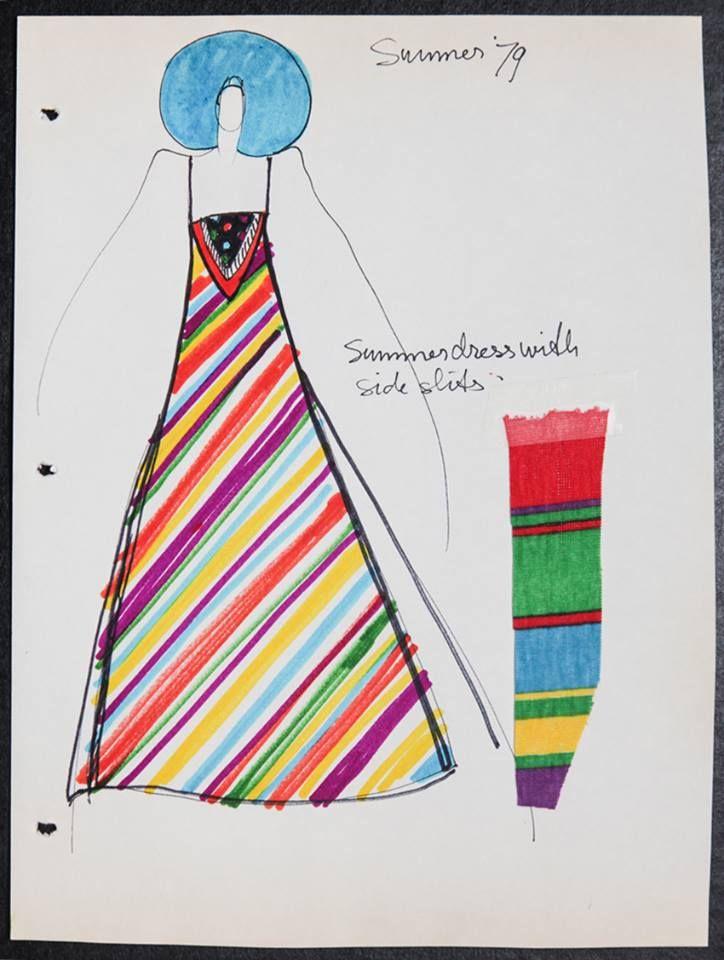 A Koos Van Den Akker iconic maxi dress defined 70s fashion.