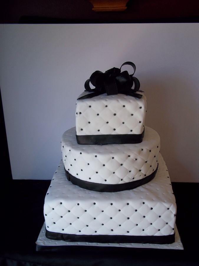 black and white beaded wedding cake — Other / Mixed Shaped Wedding ...