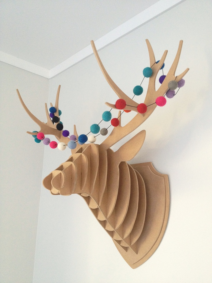 I now have a few of these for sale on felt.co.nz http://felt.co.nz/listing/166159/Mdf-Stag--Deer-head