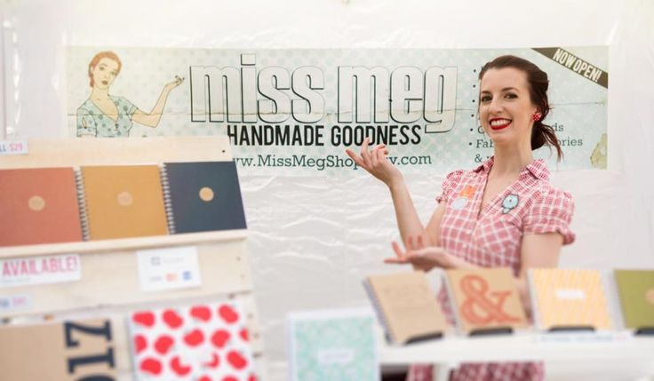 Miss Meg at the Etsy Made Local Blue Mountains Market at Norman Lindsay Gallery www.missmegshop.etsy.com