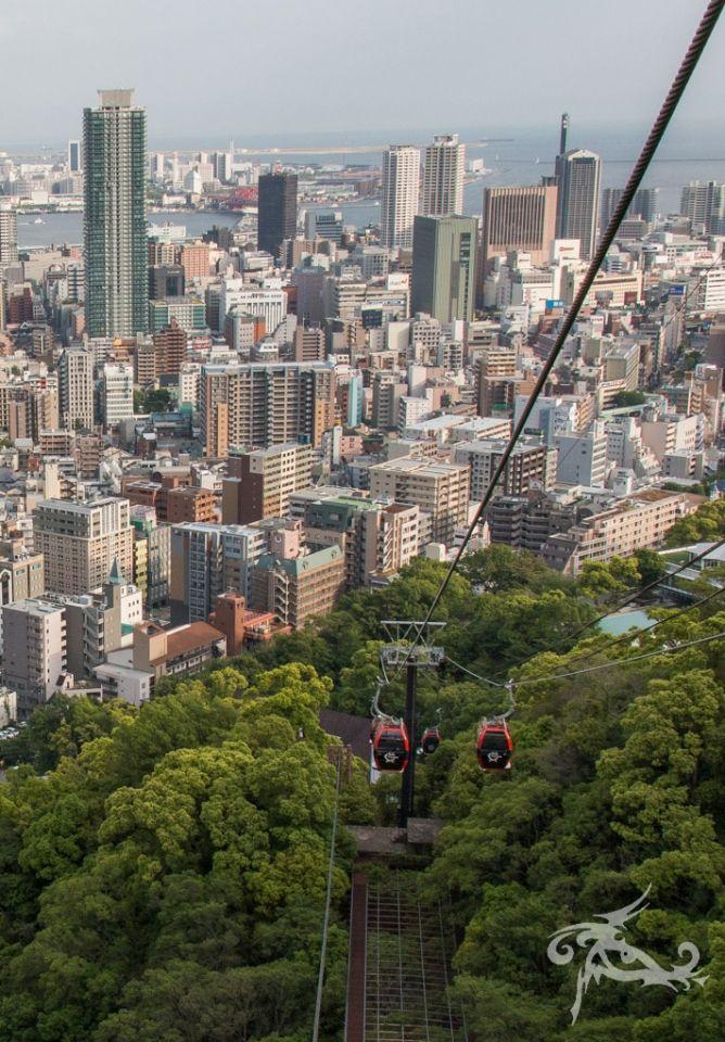 Japan / Tag 13 / Kyoto-Kobe / Seilbahn in den Garten