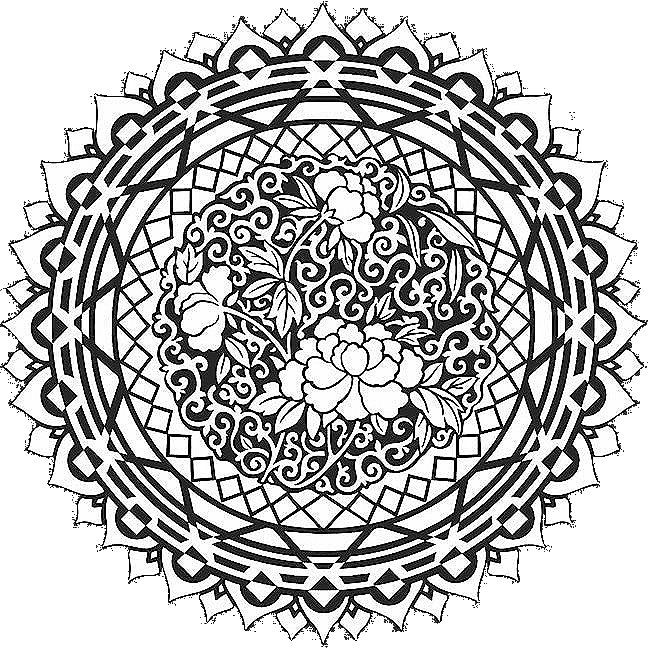 mandala abstract art coloring pages printable