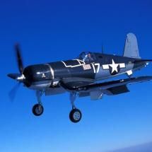 The Chance Vought - F4U Corsair - was an American fighter produced by the United Aircraft Corporation. It was mainly used in World War II