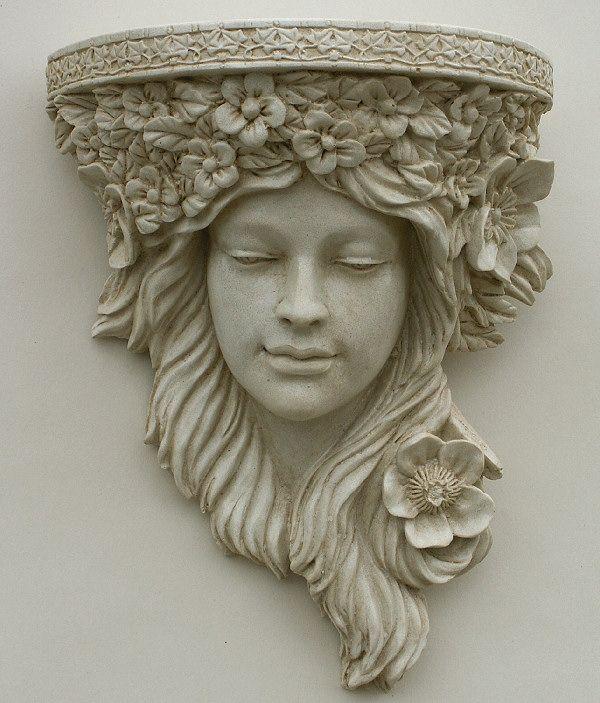 Garden Ornaments : Corbels & Garden Wall Planters : Art Nouveau Corbel