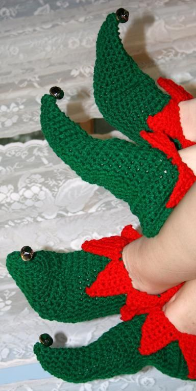 Looking for your next project? You're going to love Elf Slippers by designer lindadean690711.