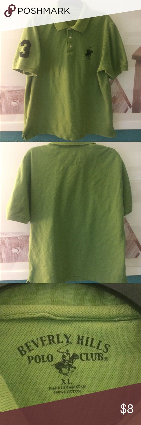 Beverly Hills polo club green polo shirt Size XL beverly hills polo Shirts Polos