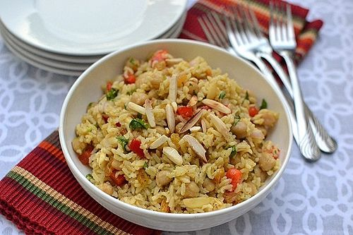 One of my favourites. Curried brown rice salad. SO tasty.