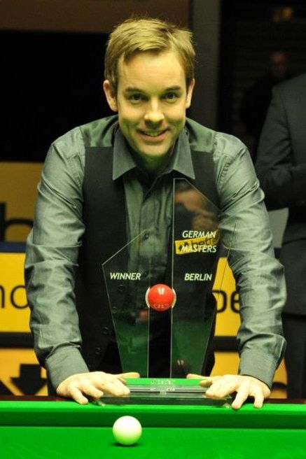 Ali Carter, Betfair German Masters Snooker 2013 Champion. Ali Carter 9-6 Marco Fu