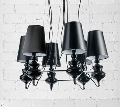 A Stylish 6 Light Chandelier Ing In Chic Black Finish The Baroco Is Perfect For Modern Interior Es