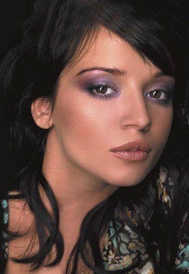 Makijaż fioletowy