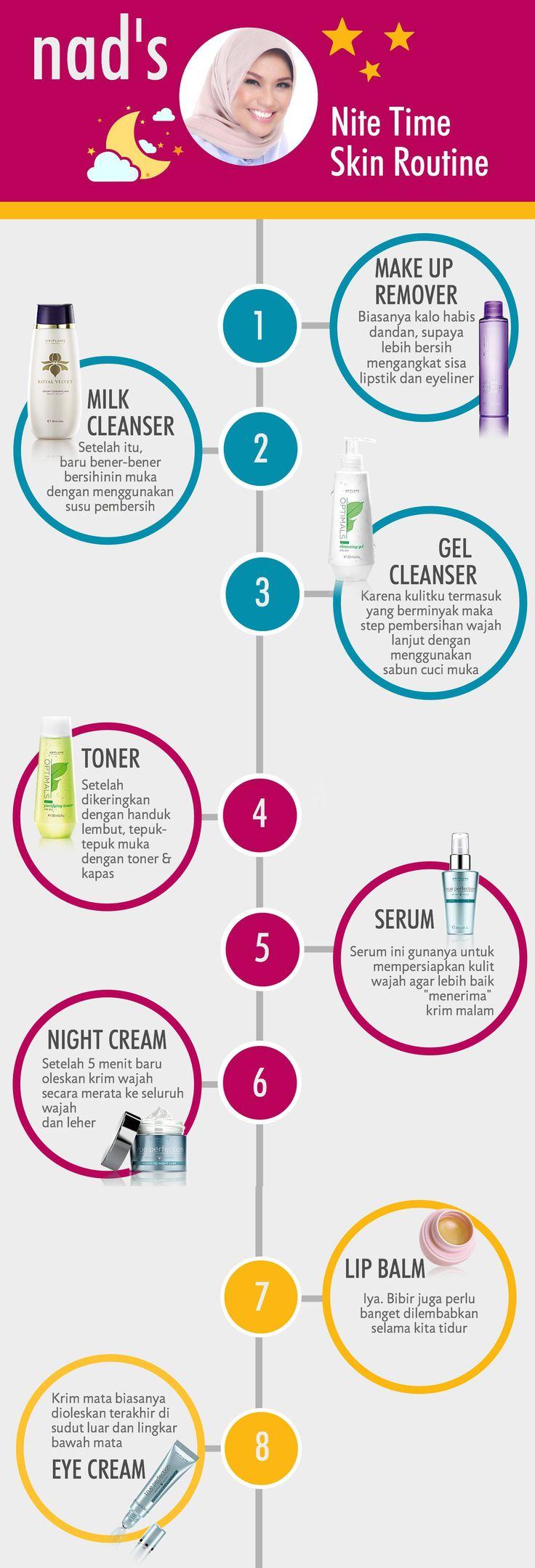 step by step perawatan wajah sebelum tidur