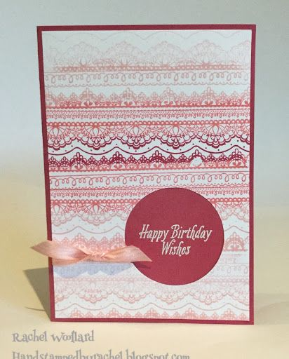 Stampin Up Avant Garden And Delicate Details Birthday Card From  Saleabration 2017. Card By Rachel