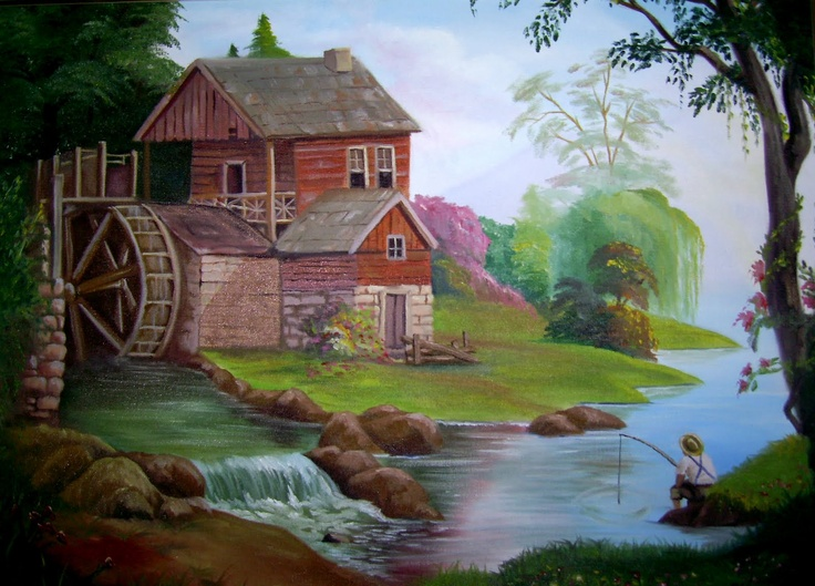 Pesca no moinho