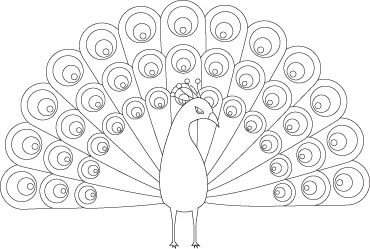 Peacocks Coloring Pages And Coloring On Pinterest
