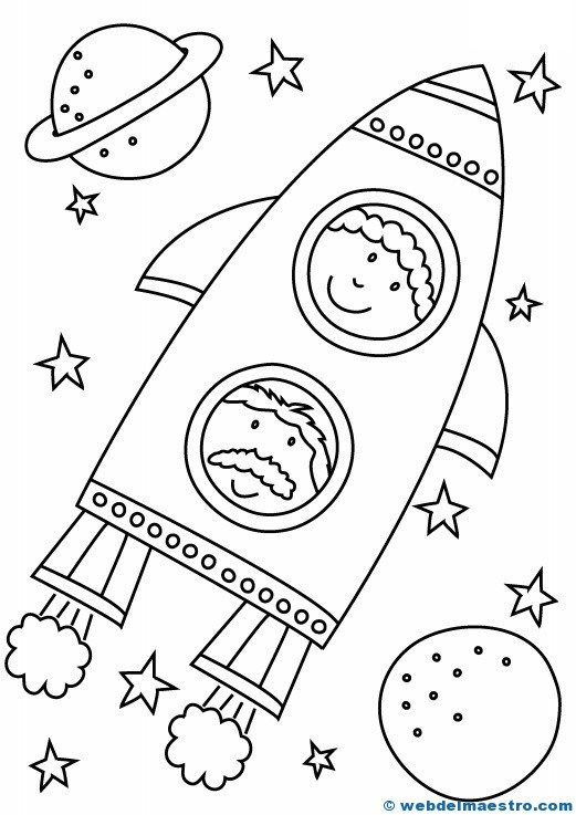 Dibujos para colorear | Padres | Pinterest | Coloring pages, Space ...
