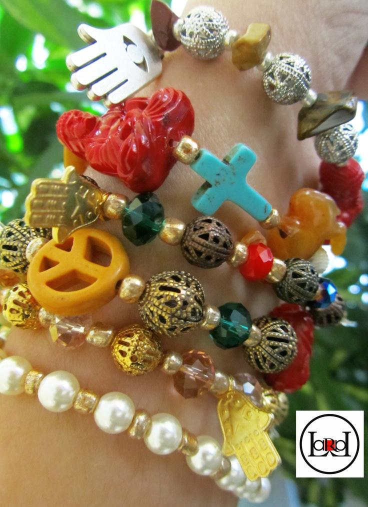 Multicolor ethnic bracelets